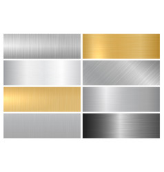Metal bright textures vector
