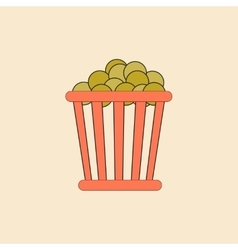 Movie snack in flat style vector
