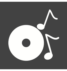 Music in CD vector