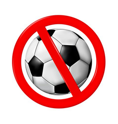 no play or football sign vector image