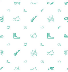 ocean icons pattern seamless white background vector image
