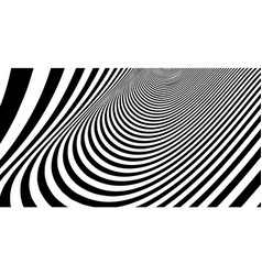 optical lines background abstract 3d vector image