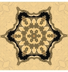Oriental ornamental pattern in brown color vector image