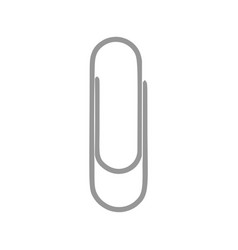 Paper clip object symbol tool equipment icon vector
