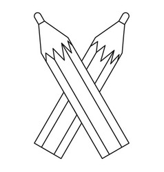 Pencils icon outline style vector