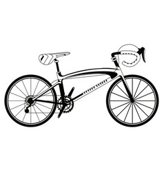 racing bicycle silhouette vector image