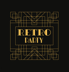 retro party logo vintage luxury minimal geometric vector image