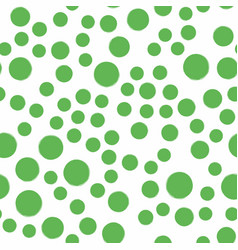 seamless green dot pattern hand painted circles vector image