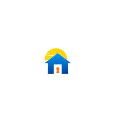 secure lock home logo vector image