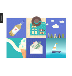 simple things - vacation vector image