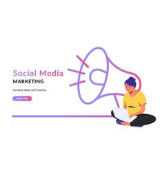 Social media marketing creative promo banner vector