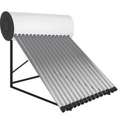 Solar pipes heater vector