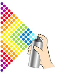 Spray paint in hand vector