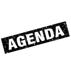 Square grunge black agenda stamp vector