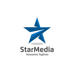 Star color logo vector