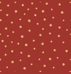starry new year christmas pattern vector image