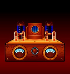 Steampunk amp vector image