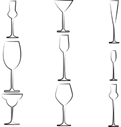 Stemware abstract vector