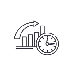 to be on time line icon concept to be on time vector image