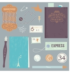 Vintage art tools vector