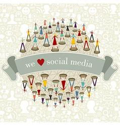 We Love social media network vector image vector image
