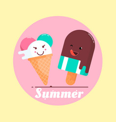 With ice cream and a phrase vector