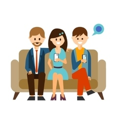 Young People Communicating in Social Media vector