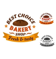 Best choice bakery shop label vector image vector image