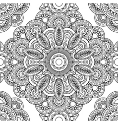 Boho doodle seamless pattern vector