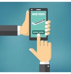 Booking online flight tickets vector image