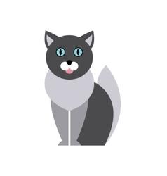 British Blue Cat Breed Primitive Cartoon vector image