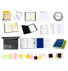 colection of business elements vector image vector image