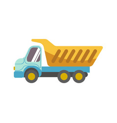 kid toy children plaything tipper truck vector image vector image