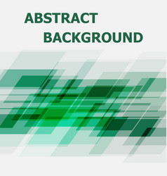 abstract green geometric overlapping design vector image