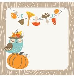Autumn owl vector image