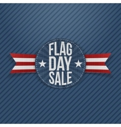 Flag day sale patriotic label with text and shadow vector