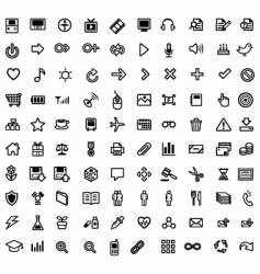 general purpose icons vector image vector image