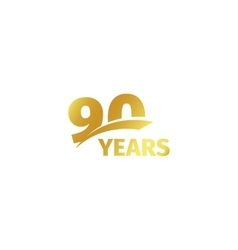 Isolated abstract golden 90th anniversary logo on vector image vector image