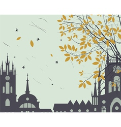 town fall vector image