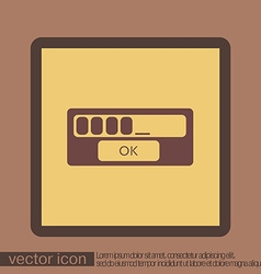 web-interface vector image vector image