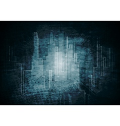 dark tech background vector image vector image