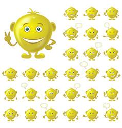golden smileys set vector image vector image