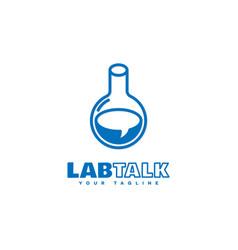 Lab talk logo vector
