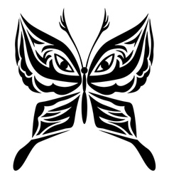 tatoo butterfly vector image