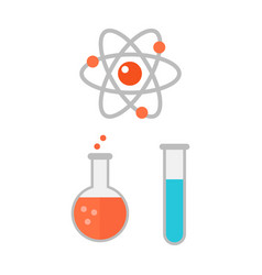 atom icon chemical jar vector image