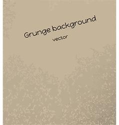 brown grunge background vector image vector image