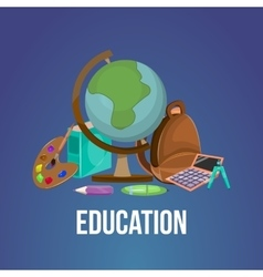 Cartoon Education Poster vector image
