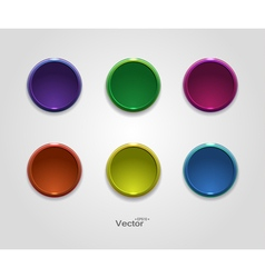 Colorful button icons for your site vector image vector image