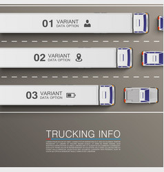 freight transportation info vector image vector image