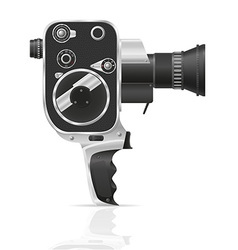 old retro vintage movie video camera 02 vector image vector image